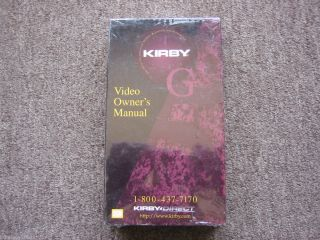 NEW KIRBY G5 VACUUM CLEANER VHS TAPE OWNERS INSTRUCTION MANUAL G3 G4