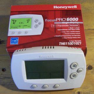 Honeywell Focus Pro Programmable Thermostat 6000 5 1 1