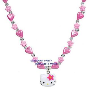 Hello Kitty Charm Necklace Flower Party Favor