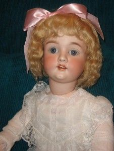 Antique 33 Schoenau & Hoffmeister Child Doll German Blue sleep eyes
