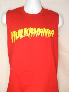 Hulk Hogan Hulkamania Red Sleeveless T Shirt New