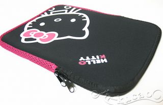 Hello Kitty 15 Macbook / Laptop sleeve case bag , Black