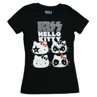 Hello Kitty Kiss Stars Crew Juniors Babydoll T Shirt Tee