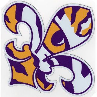 LSU Tigers FL DE LIS 8 MAGNET Vinyl Decal Car Truck