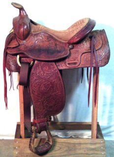 Saddle Used Saddle Tex Tan of Yoakum Hereford Brand Saddle 16A