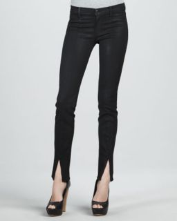 Joes Jeans Forest Green Leather Skinny Jeans   Neiman Marcus