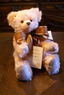 Martin J Hermann Teddy Bear Poesy Pink Mohair Stuffed Animal German
