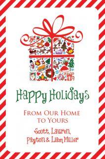 Holiday Christmas Card Personalized Custom Printable Family UPRINT
