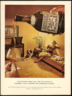 1961 print ad hennessy vsop champagne fine cognac vintage advertising