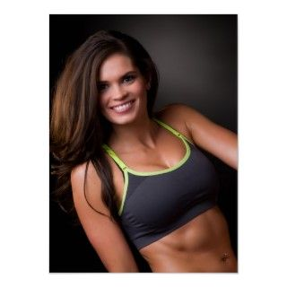 Cute fitness model great abs posters