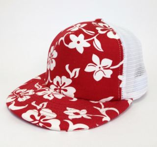 Hawaiian Surf 5 Panel Flat Trucker Baseball Cap Caps Hat Hats
