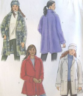 Misses Unlined Jacket Lined Hat Sewing Pattern Raglan Sleeves Back