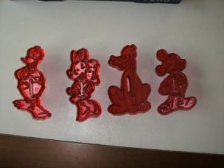 Vintage Walt Disney Character Cookie Cutters Loma Plastics 50s Mickey