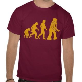 Robot Evolution Sheldon Cooper Big Bang Theory Tshirts