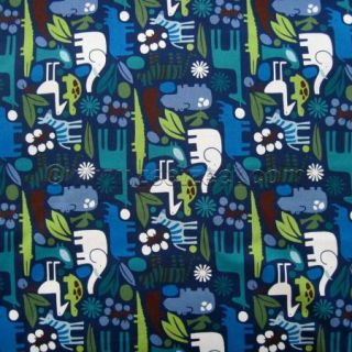 Alexander Henry 2 D Zoo Navy Blue Animals Quilt Fabric by The Yard