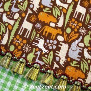 Alexander Henry Teeny Tiny Zoo Chocolate Brn Fabric Yd