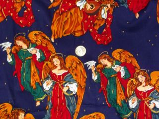 DIVINE ANGELS Alexander Henry COTTON QUILTING FABRIC 26+ REMNANT