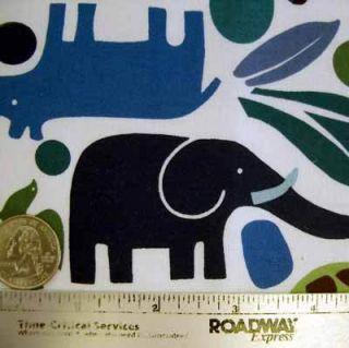 Alexander Henry 2 D Zoo Blue Mod Animals Fabric yd 2D