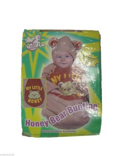 Honey Bear Halloween Bunting Costume Size Up to 25 Toddler Infant