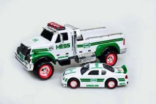 2011 Hess Toy Truck w Race Car Batteries Brand New Plus Bonus Extra