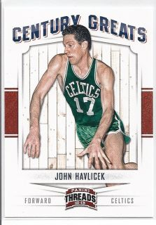JOHN HAVLICEK 2012 13 Panini Threads CENTURY GREATS Insert No. 7