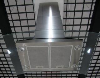 30 Stainless Steel Glass Island Mount Range Hood Stove Exhaust