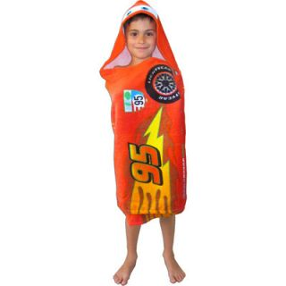 Disney Pixar Cars Lightning McQueen Hooded Beach Bath Towel New