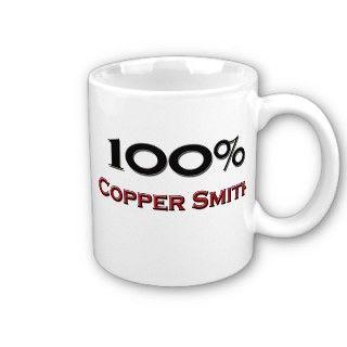 100 Percent Copper Smith Coffee Mug