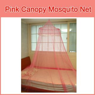 Mosquito Net Pink Canopy Hoop Lace Bed Insect Bug New