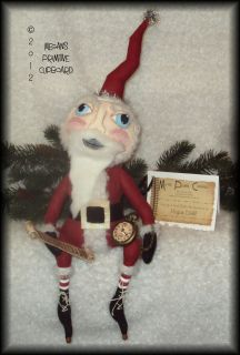 HANDMADE OOAK PRIMITIVE PRIM FOLK ART FOLKART CHRISTMAS WINTER SANTA