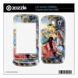 Young girls in the meadow by Pierre Renoir Decals For The LG Vortex