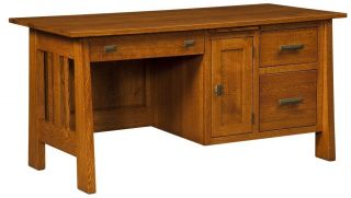 Desk Solid Wood Wooden Small Mission Home Office Furniture File
