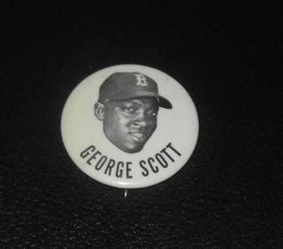 1950s 1960s PM10 Baseball Player Pin Button Coin George Scott Red Sox