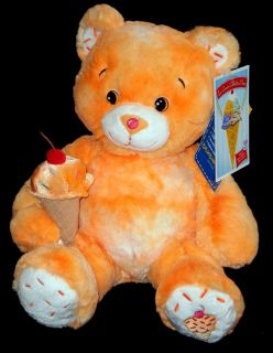 2010 Orange Sherbert Ice Cream Build A Bear Stuffed New