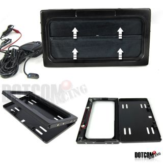 Electric Motorized Remote Control Hide Away License Plate Frame Cover