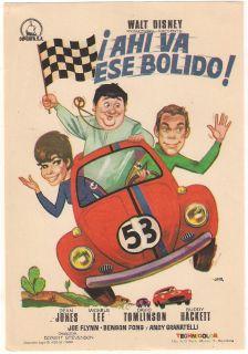 Herbie The Love Bug Volkswagen Beetle Spanish Herald Mini Poster