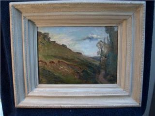 ExcellentPlein Air Impressionist Oil Painting Indistinctly Signed