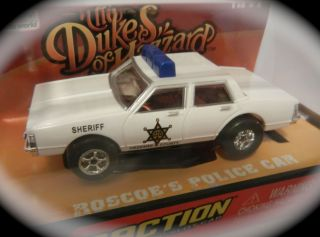 RARE AW AUTO WORLD DUKES OF HAZZARD ROSCOES POLICE HO SLOT CAR