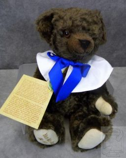 Hermann My Little Brother Yes No Teddy Bear #166 New In Box COA