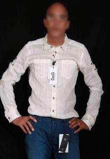 New 100% Authentic Dolce Gabbana D&G Men´s Dress Shirt Size 18.5 Top