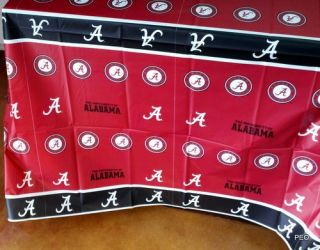 Crimson Tide Tablecover Rectangular Table Cover Tablecovers Roll Tide