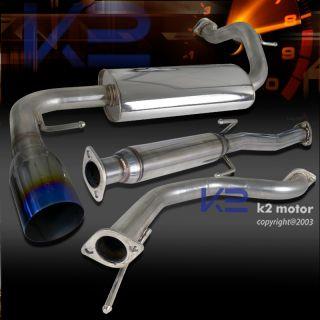 Honda 1988 1991 CRX Burn Tip Catback Exhaust Muffler System