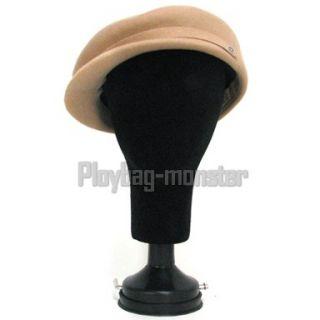 Head Wig Holder Hat Display Foam Suction Pedestal Black