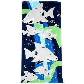 Capelli New York Hungry Sharks Beach Towel And Back Pack