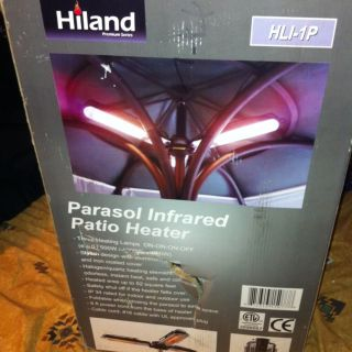 HILAND PARASOL INFRARED PATIO HEATER 100 tested And Working Model HLI