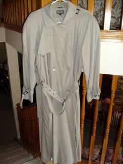 HILARY RADLEY SAGE DOUBLE BREASTED COAT 70 RAYON 30 POLYESTER size 14