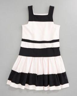 Z0XQM Baby Dior Striped Jersey Dress, Sizes 5 8