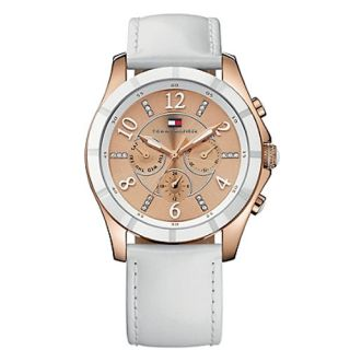 New Tommy Hilfiger MOAB Womens Watch Bown Dial Crystals Set