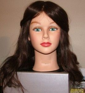 Cosmetology Female Mannequin Head 100 Real Human Hair