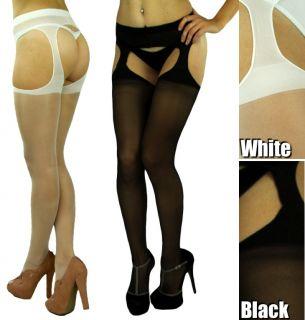 Get Your Ultra Sexy Sheer Suspender Lycra Pantyhose Tights Nylon
